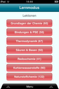 ChemieAbi App: Kapitelübersicht der abiturrelevanten Themen