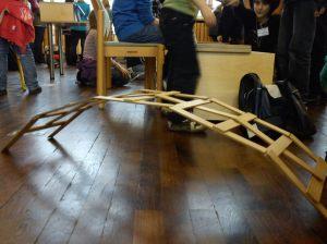 Holzbrücke a la Leonardo da Vinci